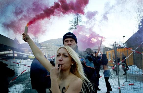 Activists from the Ukrainian feminist group FEMEN
