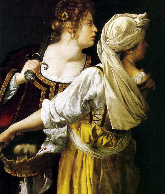 Judith and her Maidservant, 1613–14, Oil on canvas, Palazzo Pitti, Florence
