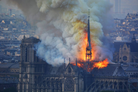 good pic notre dame burning