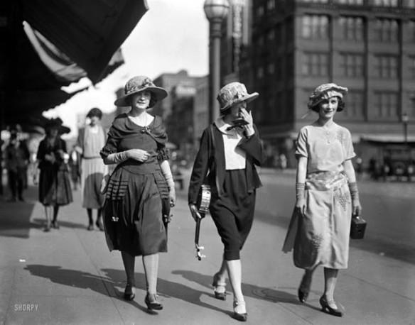 3 women in street 1920