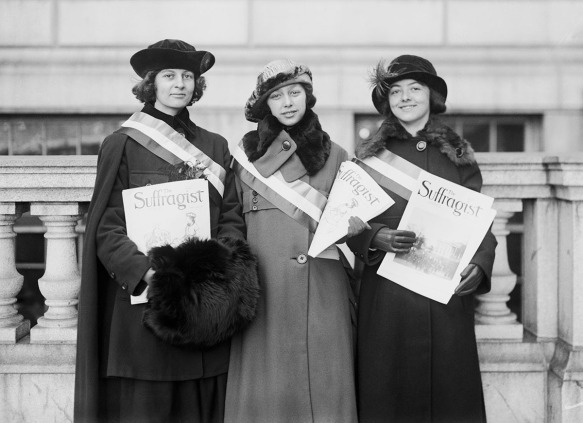 Women Holding The Suffragist